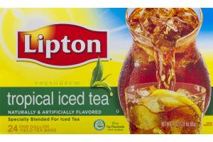 Lipton Freshbrew Tropical Iced Tea Bags - 24 CT