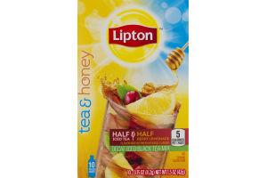 Lipon Tea & Honey Half & Half Decaf Iced Black Tea Mix Berry Lemonade - 10 CT
