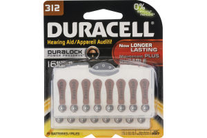 Duracell Hearing Aid Batteries 312 -16 CT