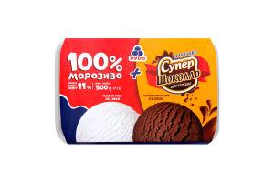 Мороженое 100%+Супершокол.Рудь лот.500г