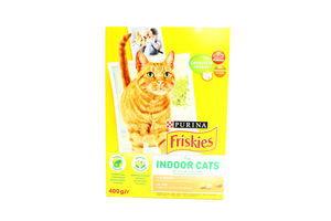 Корм сухой для взрослых кошек с курицей и садовой зеленью Friskies к/у 400г