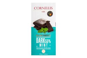 Шоколад чорний з мятою 100г Корнеліс