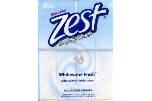 Zest Moisture-Rich Bars Whitewater Fresh - 8 CT