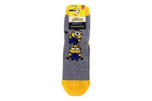 Шкарпетки жіночі Брестские Minions №20C1124 25 309 сірий меланж