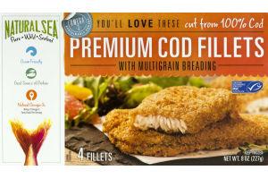 Natural Sea Premium Cod Fillets with Multigrain Breading - 4 CT
