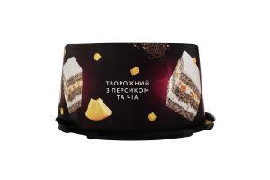 Торт Творожний з персиком та чіа Brioche к/у 0.5кг