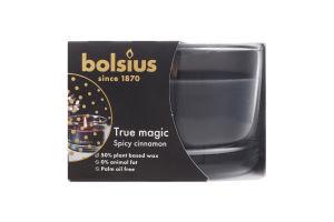 Свеча Bolsius Пряная корица аром в стекле 63/90мм