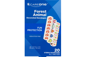 CareOne Decorated Bandages Forest Animal - 20 CT