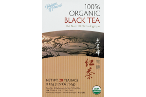 Prince of Peace 100% Organic Black Tea Bags - 20 CT