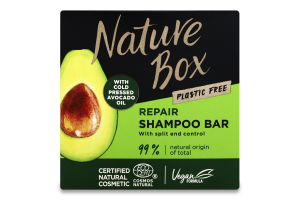 Шампунь для волосся твердий Avocado oil Repair Nature Box 85г