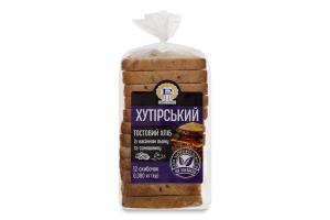 Хліб тостовий половинка в нарізці з насінням льону та соняшнику Хутірський Рома м/у 0.38кг