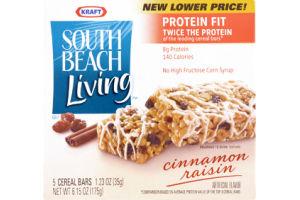 Kraft South Beach Living Cinnamon Raisin Cereal Bars
