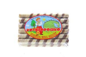 Вафельні трубочки Котигорошко з какао 150г х32