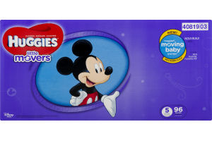 Huggies Little Movers Diapers Size 5 - 96 CT