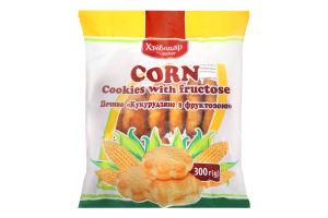 Печиво Кукурудзяне з фруктозою Хлібодар м/у 300г