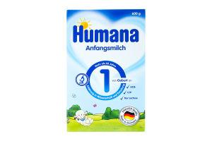 Суміш молочна суха для дітей 0-6міс №1 Humana к/у 600г