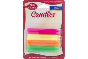 Betty Crocker Birthday Candles Neon - 24 CT