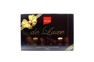 Цукерки Корона De Luxe у чорному шоколаді 216г х6