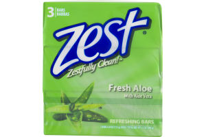 Zest Fresh Aloe Refreshing Bars - 3 CT
