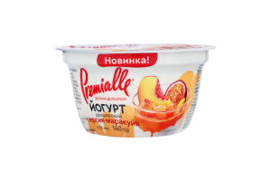 Йогурт 6.5% двошаровий Персик-Маракуйя Premialle ст 140г