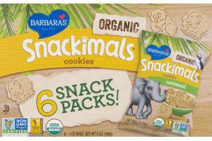Barbara's Snackimals Cookies Oatmeal - 6 CT