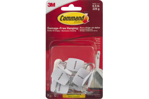 3M Command Brand Damage-Free Hanging Wire Hooks Small - 9 CT