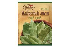 Лаврове листя (цілий) пропілен 20г /Любисток/