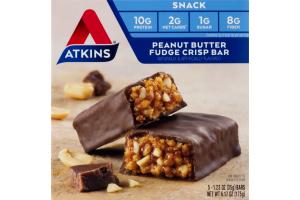 Atkins Peanut Butter Fudge Crisp Bar - 5 CT