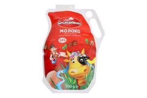 Молоко 3.8% пастеризованное Украинское Смаковеньки м/у 930г