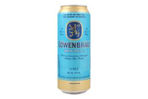 Пиво 0.5л 5.2% светлое пастеризованное Original Löwenbräu ж/б