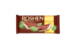 Шоколад молочний Mint Nougat Roshen м/у 90г