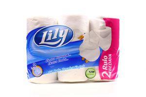 Бумага туалетная 2-х слойная Lily 12шт