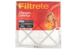 3M Filtrete Micro Allergen Defense 1000 Air Filter 20x20x1