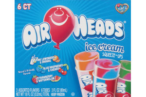 Air Heads Ice Cream Squeeze-Ups Assorted Flavors - 6 CT