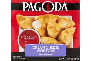 Pagoda Cream Cheese Wontons with Sweet Chili Sauce