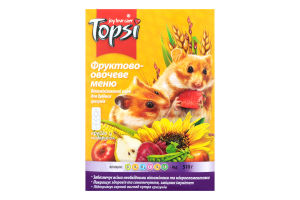 Корм для грызунов Фруктово-овощное меню Topsi к/у 510г