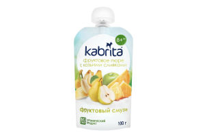 Пюре для дітей від 6міс фруктове з козячими вершками Фруктовий смузі Kabrita д/п 100г
