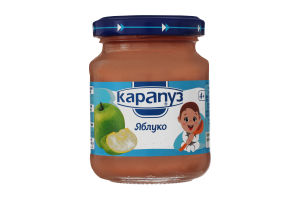 Пюре для дітей з 4міс Яблуко Карапуз с/б 125г