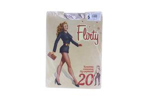 Колготки женские элегантные без шортиков Flirty 20den 5 бежевые