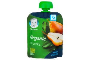 Пюре для дітей від 6міс Organic Груша Gerber д/п 90г
