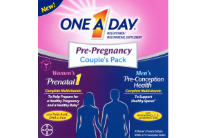 One A Day Multivitamin/Multimineral Supplement Pre-Pregnancy Couple's Pack - 2 PK