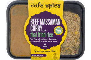 Cafe Spice Massaman Curry with Thai Fried Rice Beef