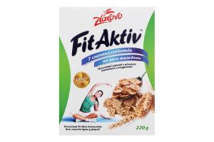 Пластівці зернові з цільною пшеницею FitAktiv Zlakovo к/у 220г