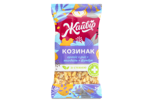 Козинак на фруктозе со стевией Ассорти с миндалем Жайвір м/у 50г