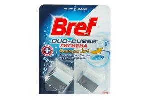 Кубики для сливного бачка 2в1 Гигиена Duo-Cubes Bref 2х50г