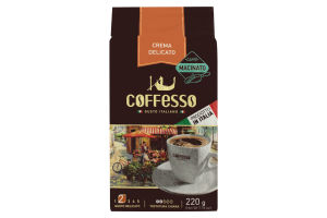 Кава Coffesso Crema Delicato Vacuum ground 220г кава натуральна мелена