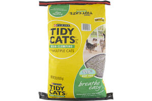 Purina Tidy Cats Non-Clumping for Multiple Cats Breathe Easy Cat Litter