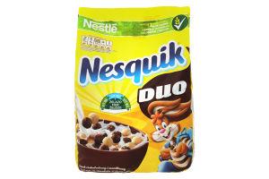 Завтраки сухие с витаминами и минеральными веществами Duo Nesquik м/у 460г