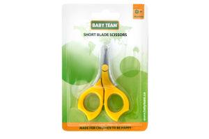 Ножиці дитячі з короткими лезами 0+ Baby Team 1шт