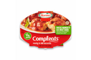 Hormel Compleats Cheese Manicotti with Meat Sauce, 10 Ounce